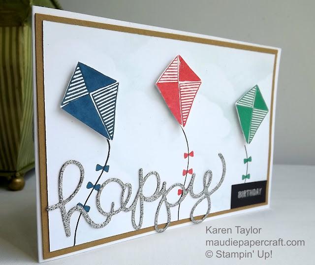 Stampin' Up! Swirly Bird kite birthday card