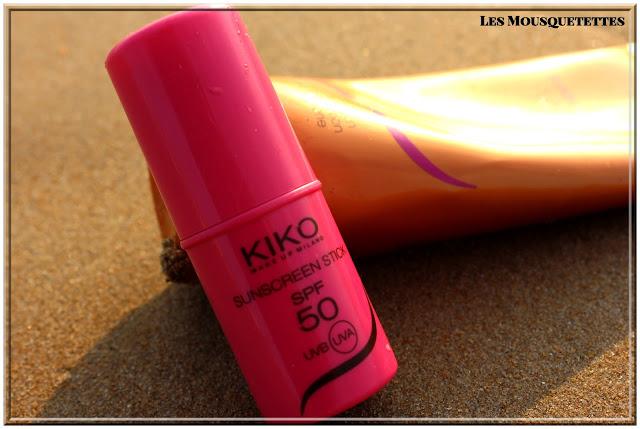 Stick protection solaire SPF 50 KIKO - Les Mousquetettes©