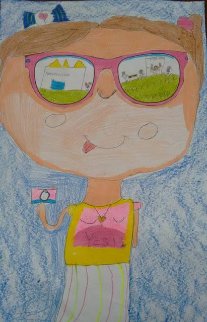 Atividade de observação e criação de autorretrato e o que foi observado no espaço escolar