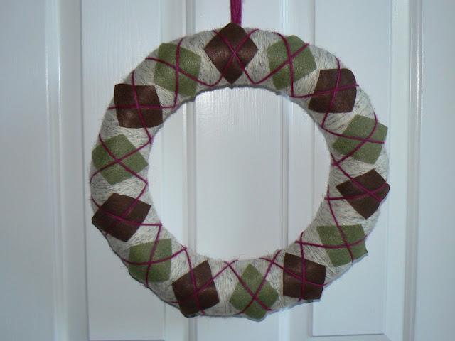 Create Amp Celebrate Finally Fall Argyle Wreath