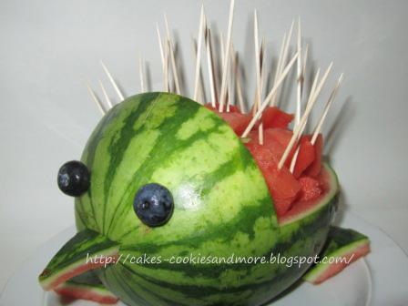 Igel aus Wassermelone