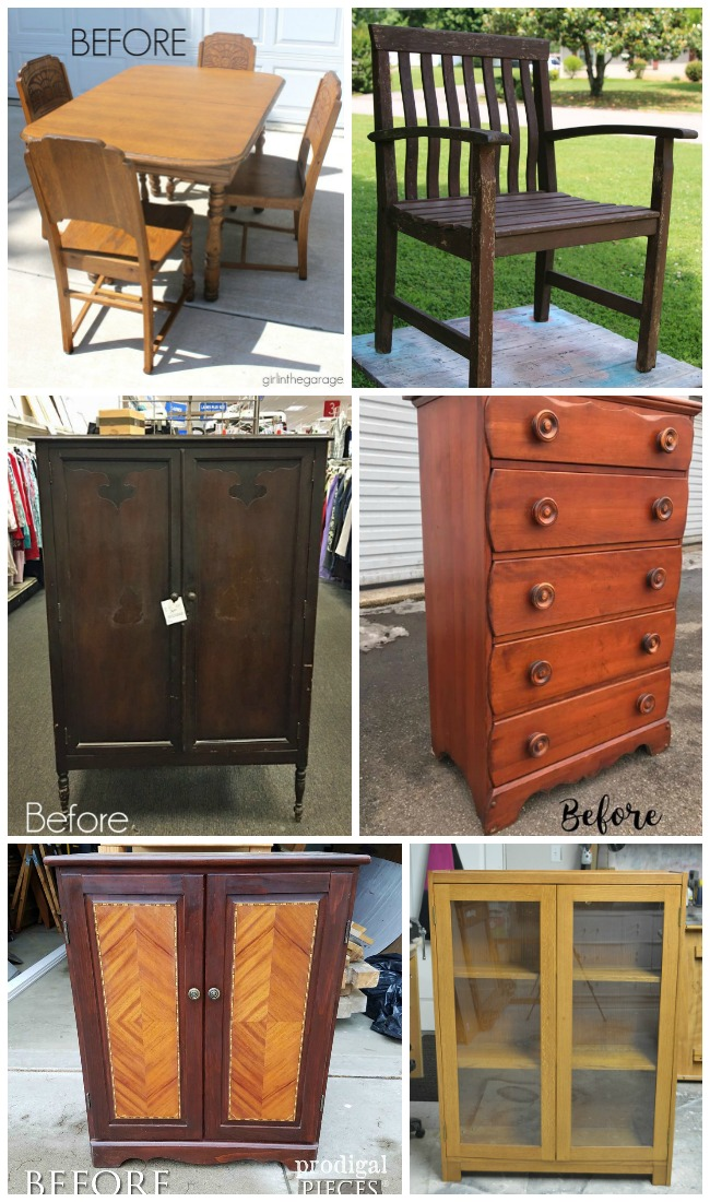 Six Furniture Makeovers by Furniture Fixer Uppers May 2017