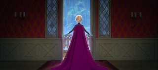 Scene from Frozen: Queen Elsa