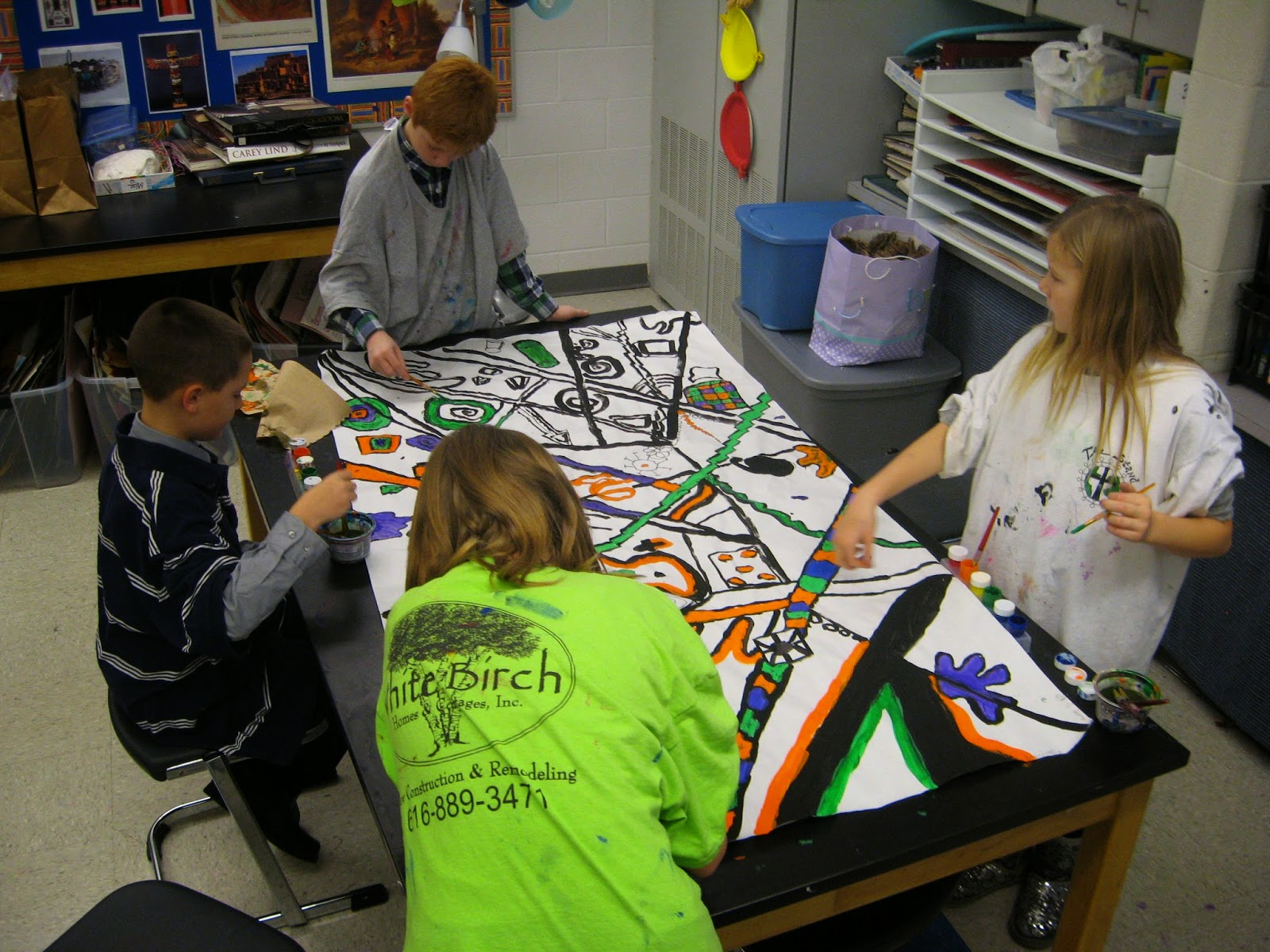 Jamestown Elementary Art Blog 4th Grade Abstract Kandinsky Murals