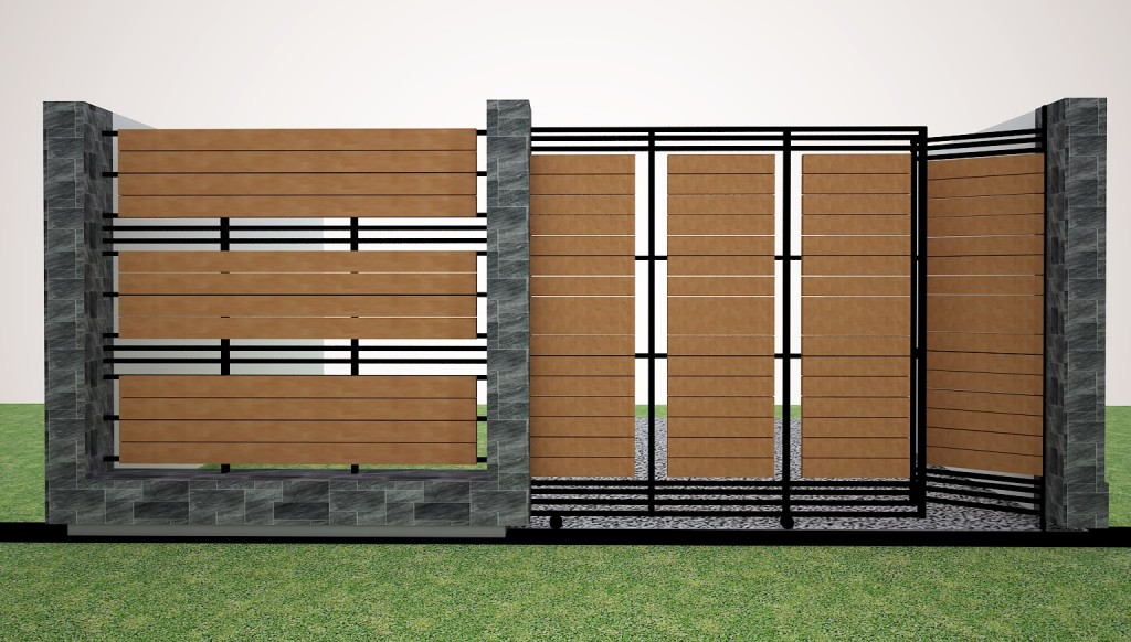 Contoh Desain Pagar Rumah Minimalis Modern