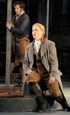 Fidelio - Garsington Opera, conductor Douglas Boyd - Sam Furness (Jaquino), Rebecca von Lipinski (Leonore) credit John Snelling