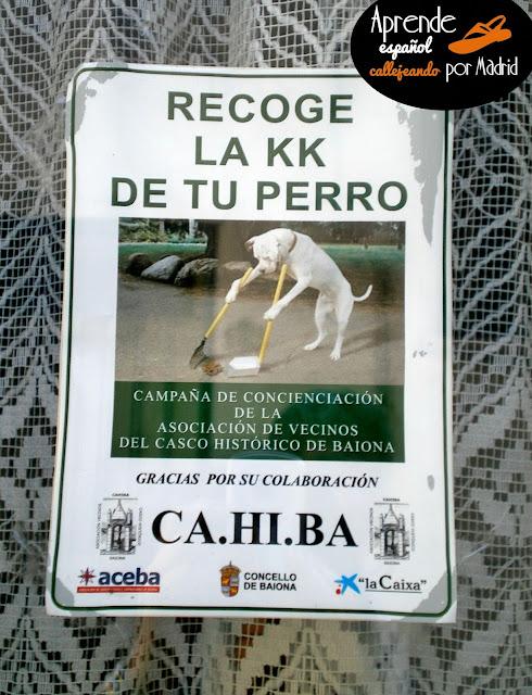 recoge la caca de tu perro