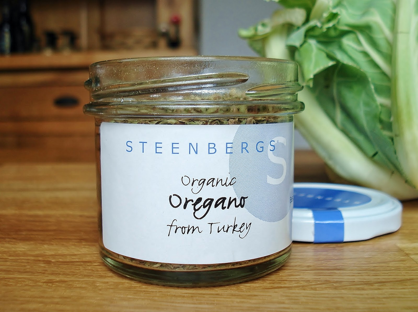 Steenbergs organic oregano jar