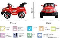 1 Mobil Mainan Aki Elite 006Q Jeep