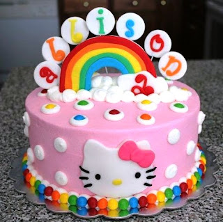 So Many Hobbies So Little Time Hello Kitty Rainbow Cake