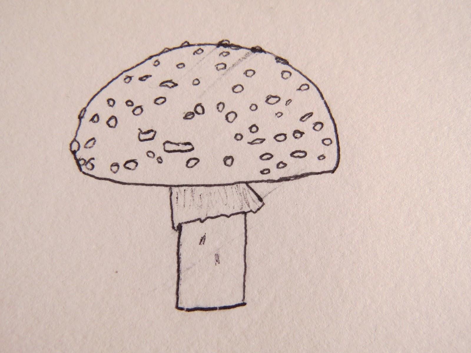 Drawing Easy Simple Mushroom Drawing Easy