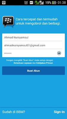 Cara Buat ID Akun BBM Baru di Android