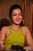 Actress Catherine Tresa Pos during Self Dubbing for Gautham Nanda Movie  0085.JPG