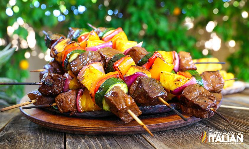 Grilled Hawaiian Beef Kabobs