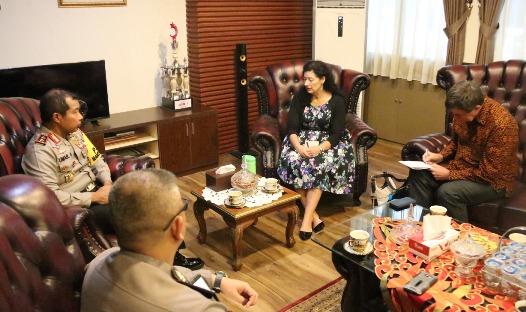 Kapolda Sulsel Terima Panpel, Pengajian Akbar Notaris Muslim Indonesia