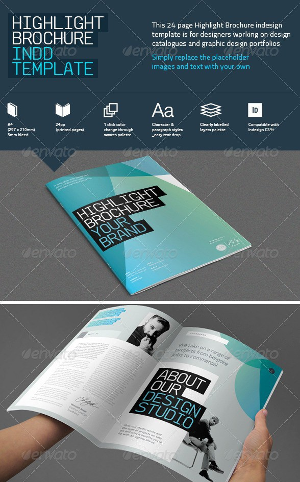 Free Premium Brochure Templates Photoshop PSD InDesign AI - Brochure template for indesign