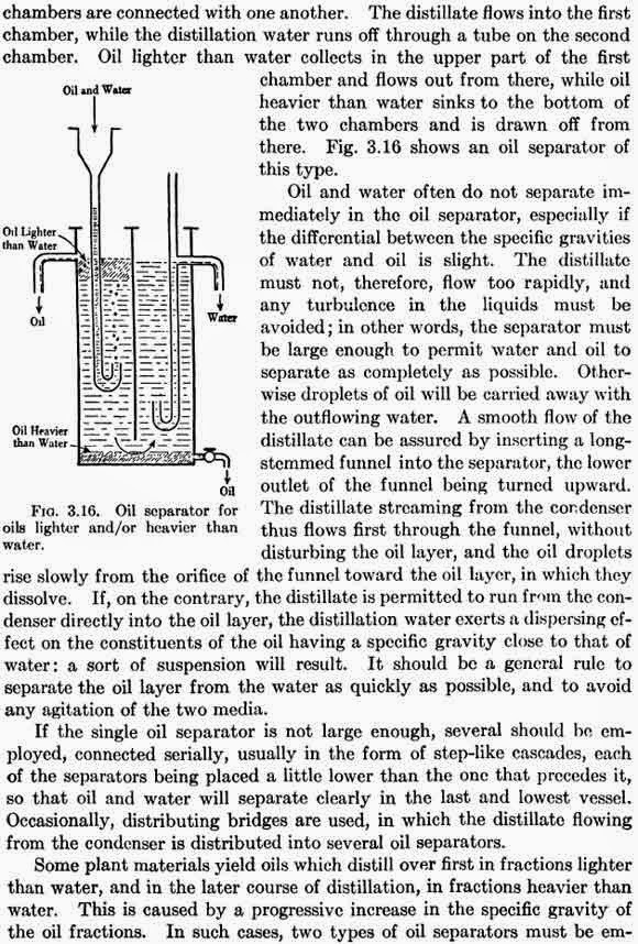 Oil separator for oils lighter and/or heavier than water