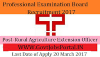 Professional Examination Board Recruitment 2017– 650 Rural Agriculture Extension Officer