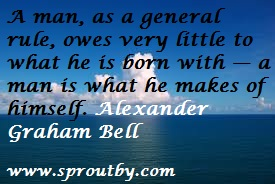 #Alexander Graham Bell #Success Quote #Life Quote #Picture Quotes #www.sproutby.com