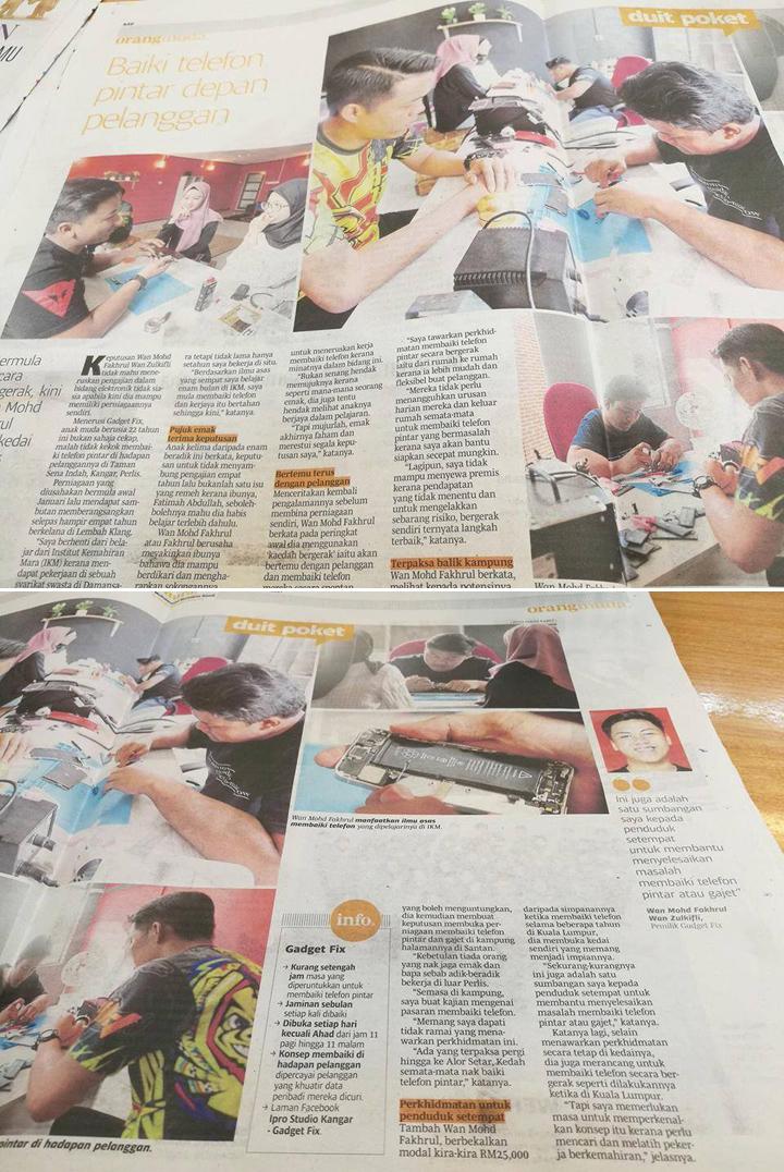 IproKangar, Kedai Repair iPhone kawasan Perlis dan Kedah