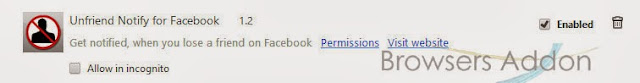 Unfriend Notify for facebook disable remove