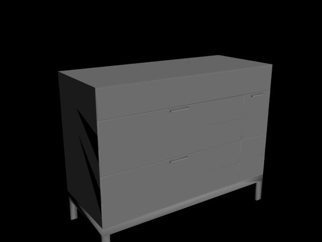 Çekmeceli Dolap 3D Model