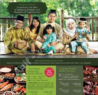 Jom Balik Kampung Buffet Dinner  Berjaya Waterfront Hotel Johor Bahru  Dewasa RM78 +  Kanak-kanak RM42 +  Untuk tempahan :07 221 9999 / 07 221 0999