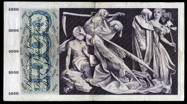 Switzerland money 1000 Swiss Francs