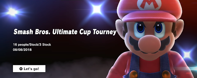 Super Smash Bros. Ultimate Tourney Mode screen angry determined Mario fierce look in his eyes
