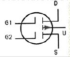 Transistor Symbol - Dual Gate MOSFET – P Channel Enhancement