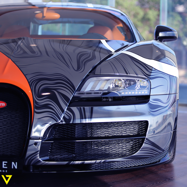 Absurdly Wrapped Bugatti Veyron Super Sport For Sale In