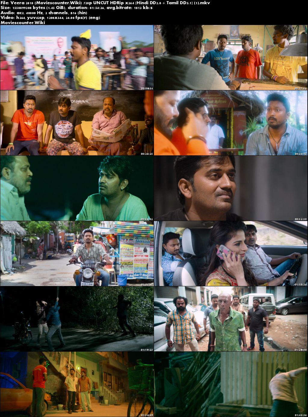 Screen Shots Veera 2018 Hindi Dubbed HD 720p