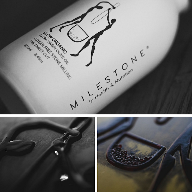 Milestone olive oil packaging • the round button blog