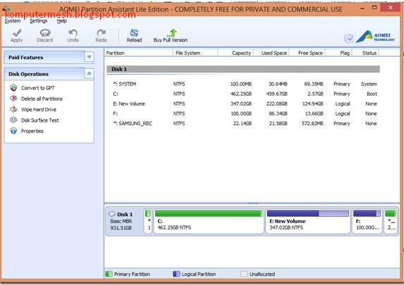Cara Convert Harddisk MBR ke GPT Tanpa Kehilangan Data