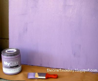 Plywood painted purple