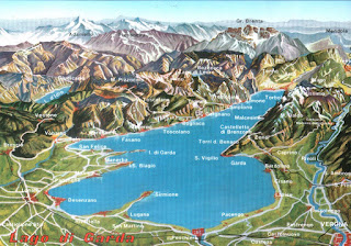 Mapa del Lago di Garda.