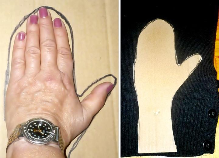 Anfertigung einer Schablone für Handschuhe