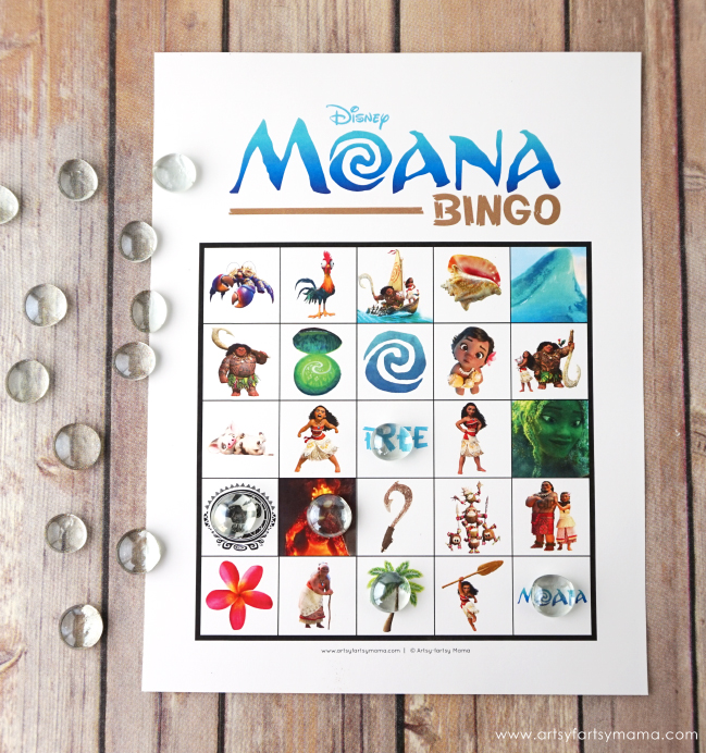 Download Free Printable Disney Moana Bingo!