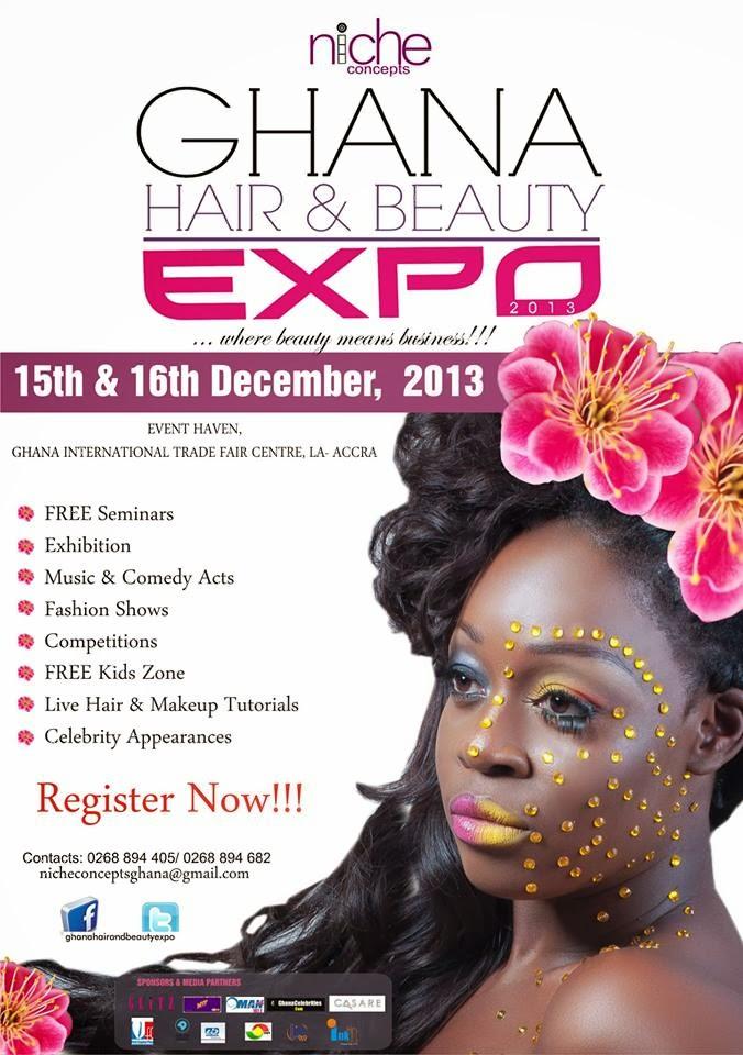 beauty ghana expo hair fair international event trade rising ghanaian centre accra