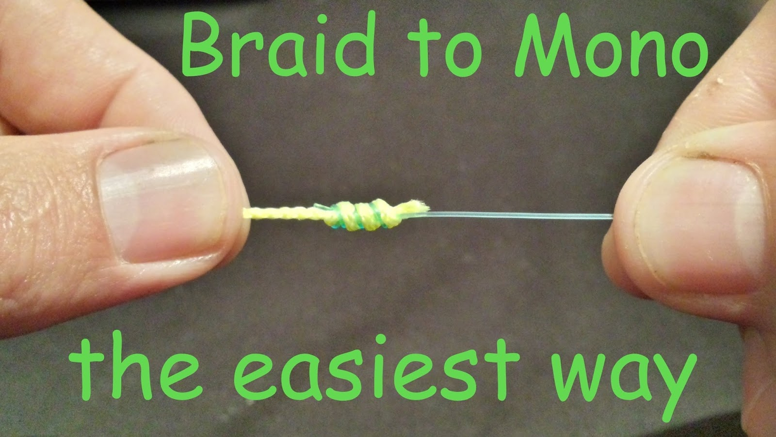 how to fish braided line