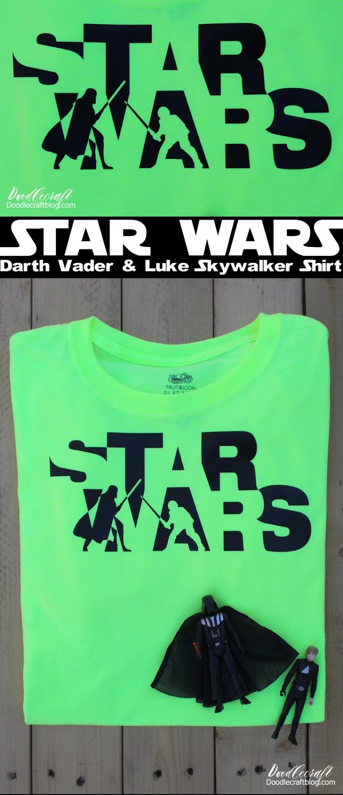 Star Wars Darth Vader-Luke Skywalker Battle Iron-On Vinyl