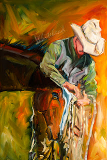 Daily Painters Abstract Gallery WESTERN EQUINE COWBOY ART