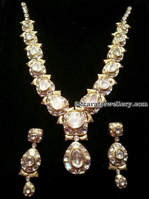 Large Stone Polki Bridal Necklaces