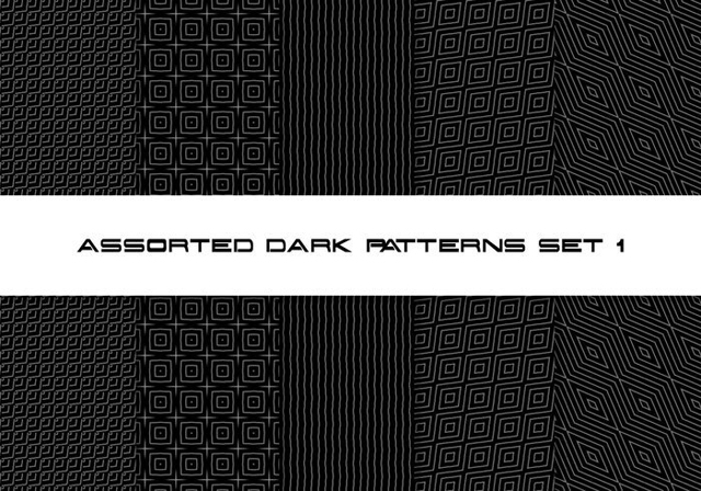 Assorted Dark Pattern Set