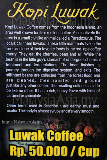 Info on Luwak Coffee