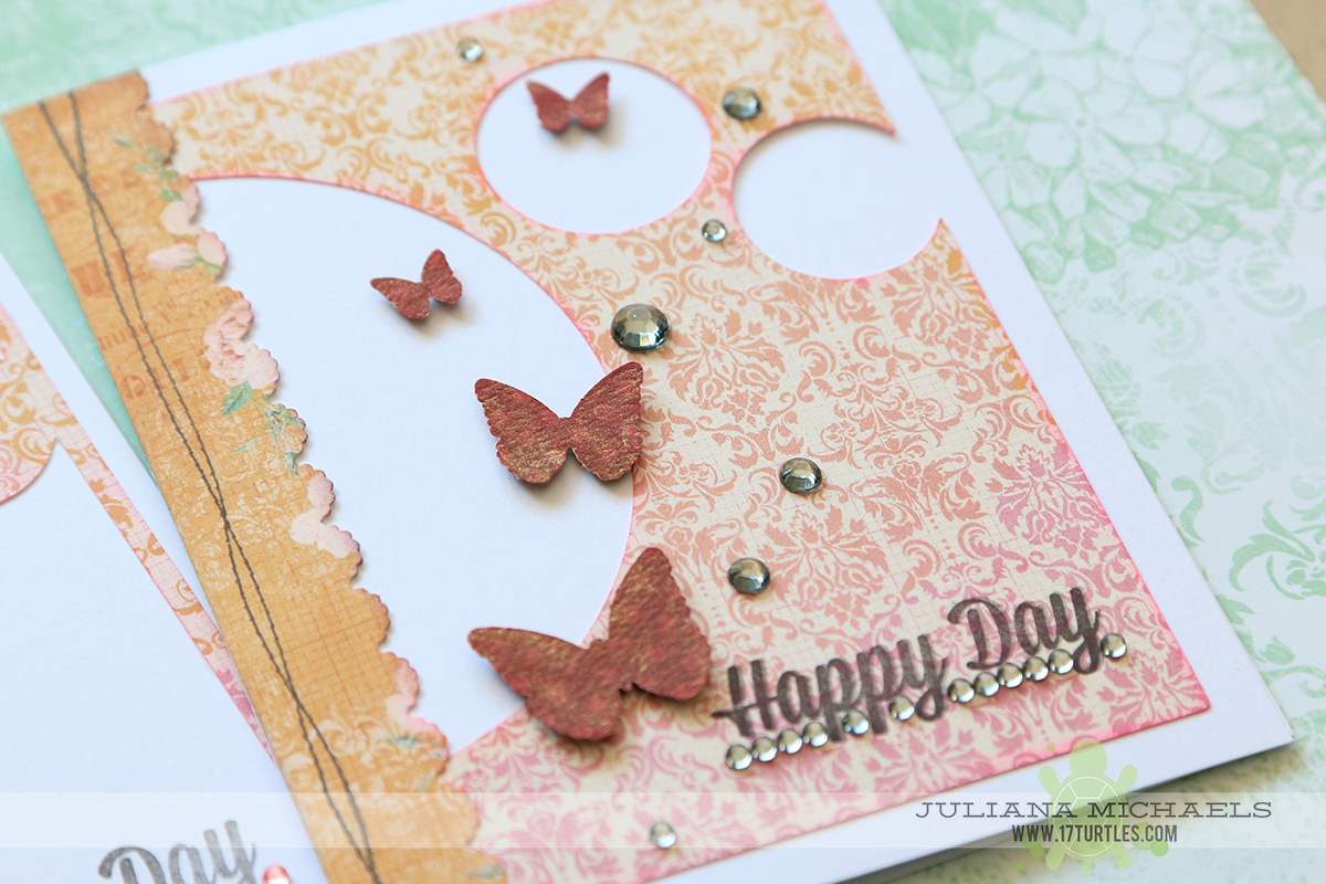 Happy Days Card by Juliana Michaels featuring BoBunny Madeleine