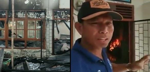 Kecewa, Pendukung Jokowi Bakar Kantor Desa