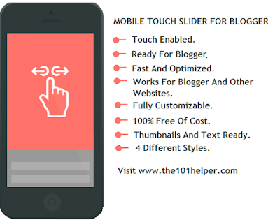 featured posts swiper widgets for blogger mobile site