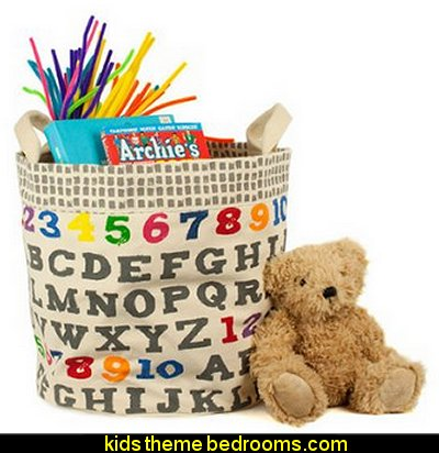 Storage Bin, A to Z  playrooms alphabet numbers decorating ideas - educational fun learning letters & numbers decor - abc 123 theme bedroom ideas - Alphabet room decor - Numbers room decor - Creative playrooms educational children bedrooms - Alphabet Nursery - Alphabet Wall Letters - primary color bedroom ideas - boys costumes - girls costumes pretend play - fun playroom furniture