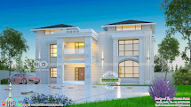 Grand Arabian Style Home Design Kerala